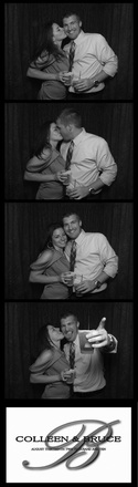 Qwik Picz Photo Booth Strip Image BW Navy