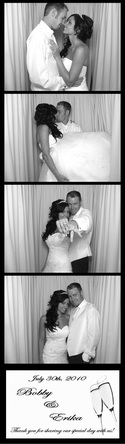 Qwik Picz Photo Booth Strip Image BW Ivory